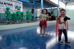 Comunidade escolar comemora novo espaço recreativo na EC 41, de Taguatinga